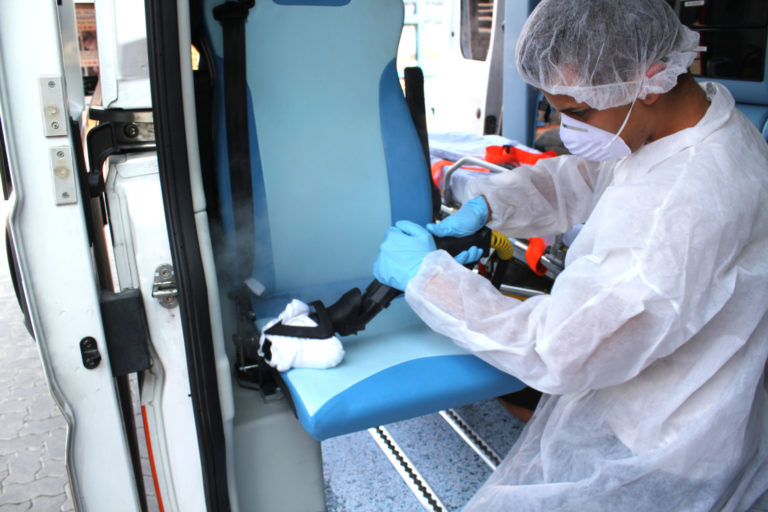 Ambulance cleaning
